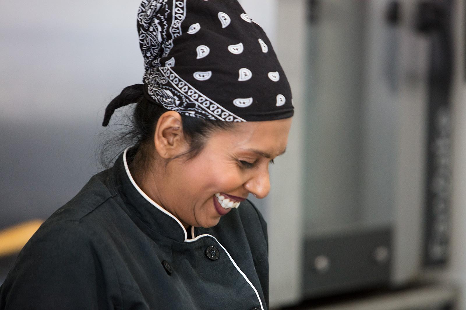 Dee, the happy chef!